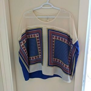 Gentle Fawn Scarf Print top